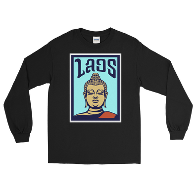 Laos Buddha Poster Long Sleeve T-Shirt