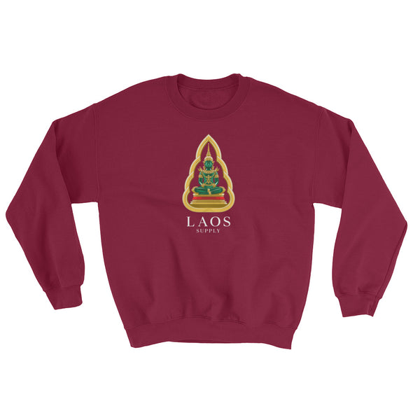 Green Emerald Buddha Men's Crew Sweatshirt