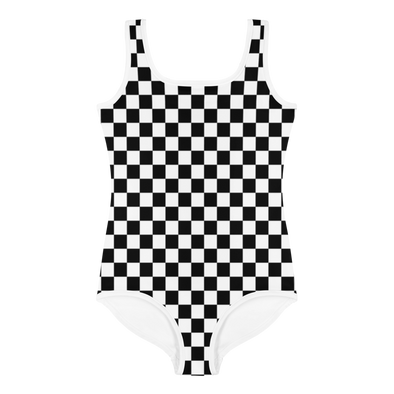 Checker All-Over Print Kids Swimsuit