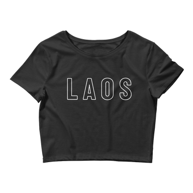 Laos Outline Women's Crop Tee