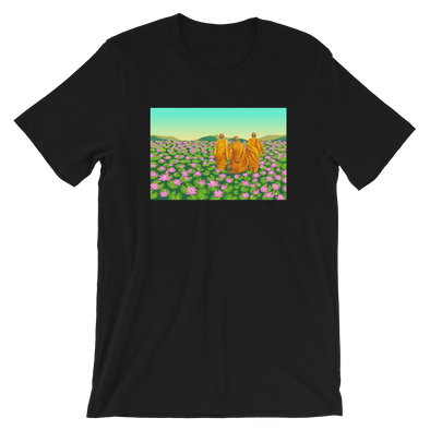Monk March Lotus Field T-Shirt