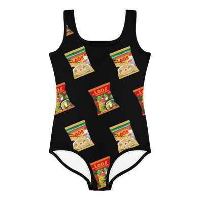 Mi Mama Noodles All-Over Print Kids Swimsuit