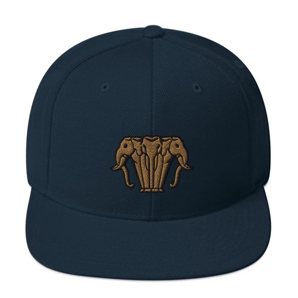 Gold Elephant Snapback Hat