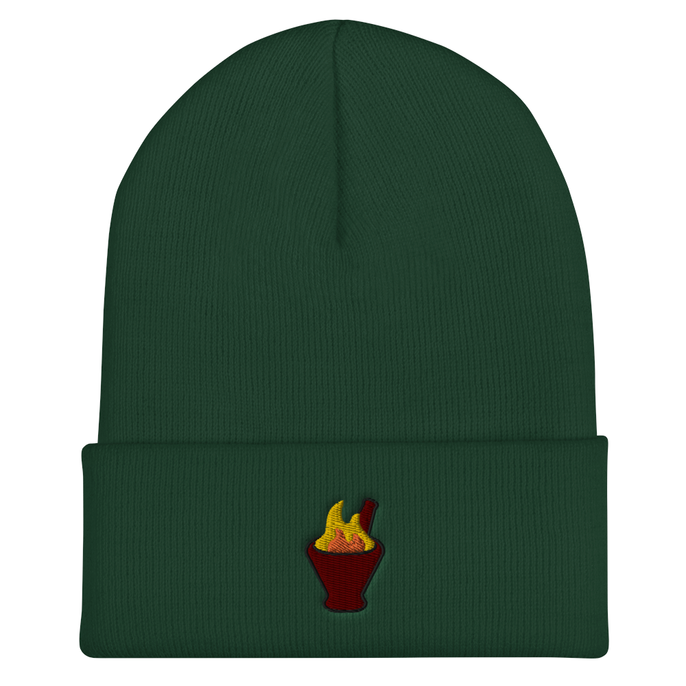 Thum Phet Embroidered  Cuffed Beanie