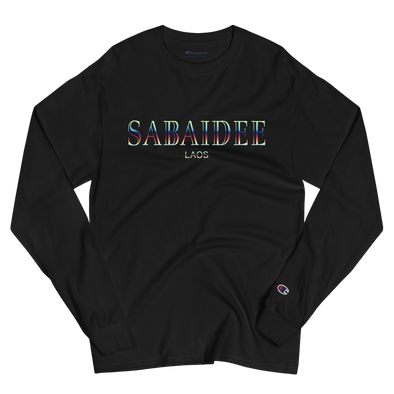 Sabaidee Gradient Men's Champion Long Sleeve Shirt