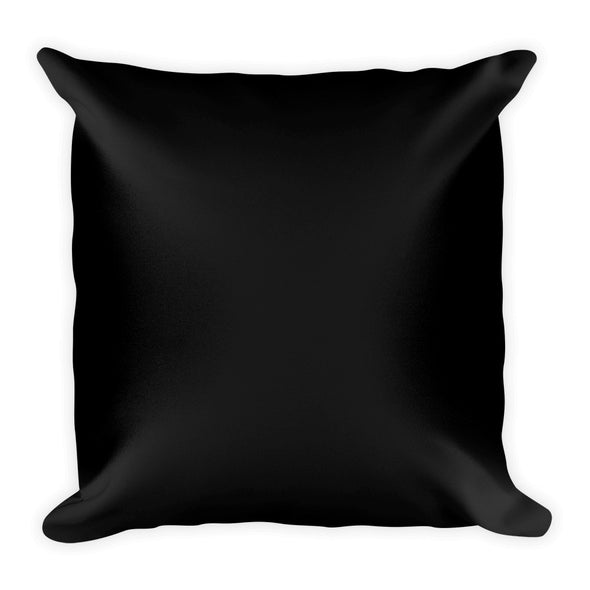 Golden Elephant Black and White Square Pillow