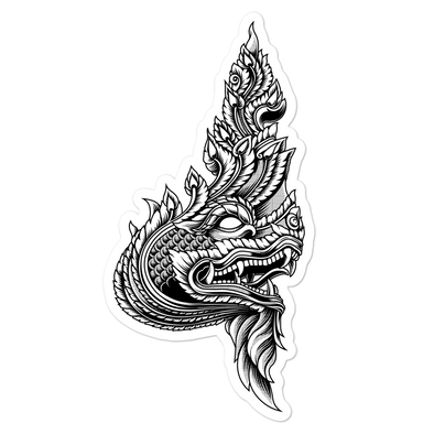 Naga Head Bubble-free stickers