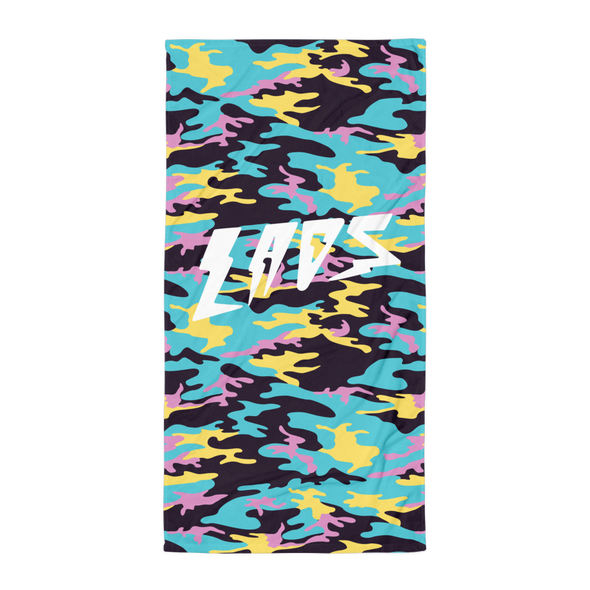 Laos Teal Camo Beach Towel