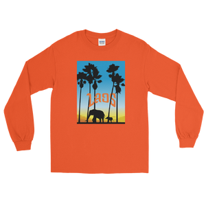 Elephant Sunset Men's Long Sleeve Shirt