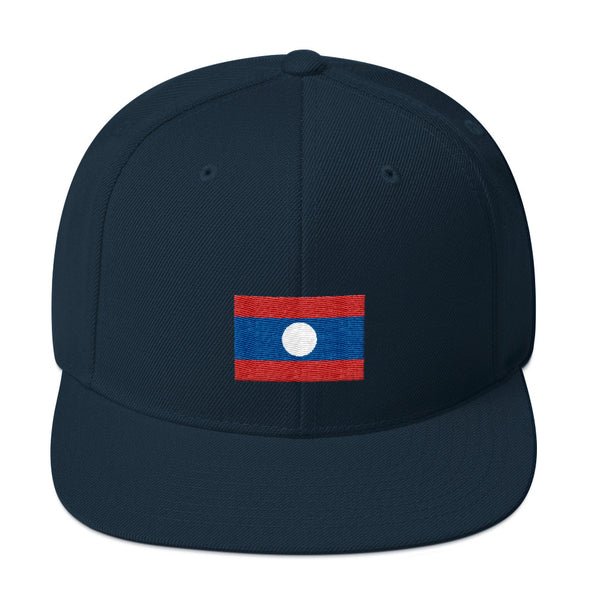 Laos Flag Snapback Hat