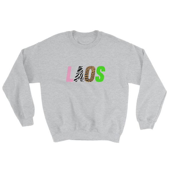 Laos Zoo Logo Men's Crew Sweatshirt