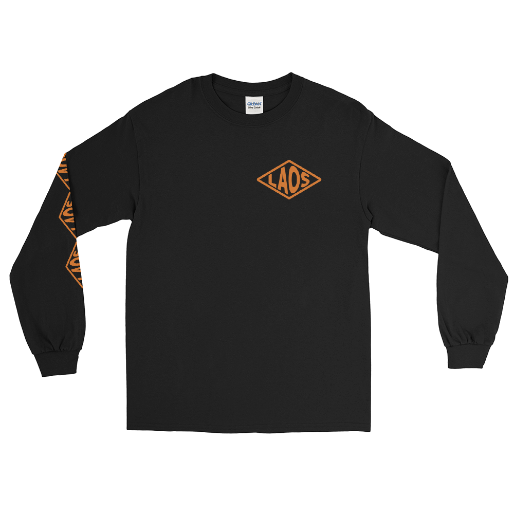 Orange Laos Diamond Logo Long Sleeve T-Shirt