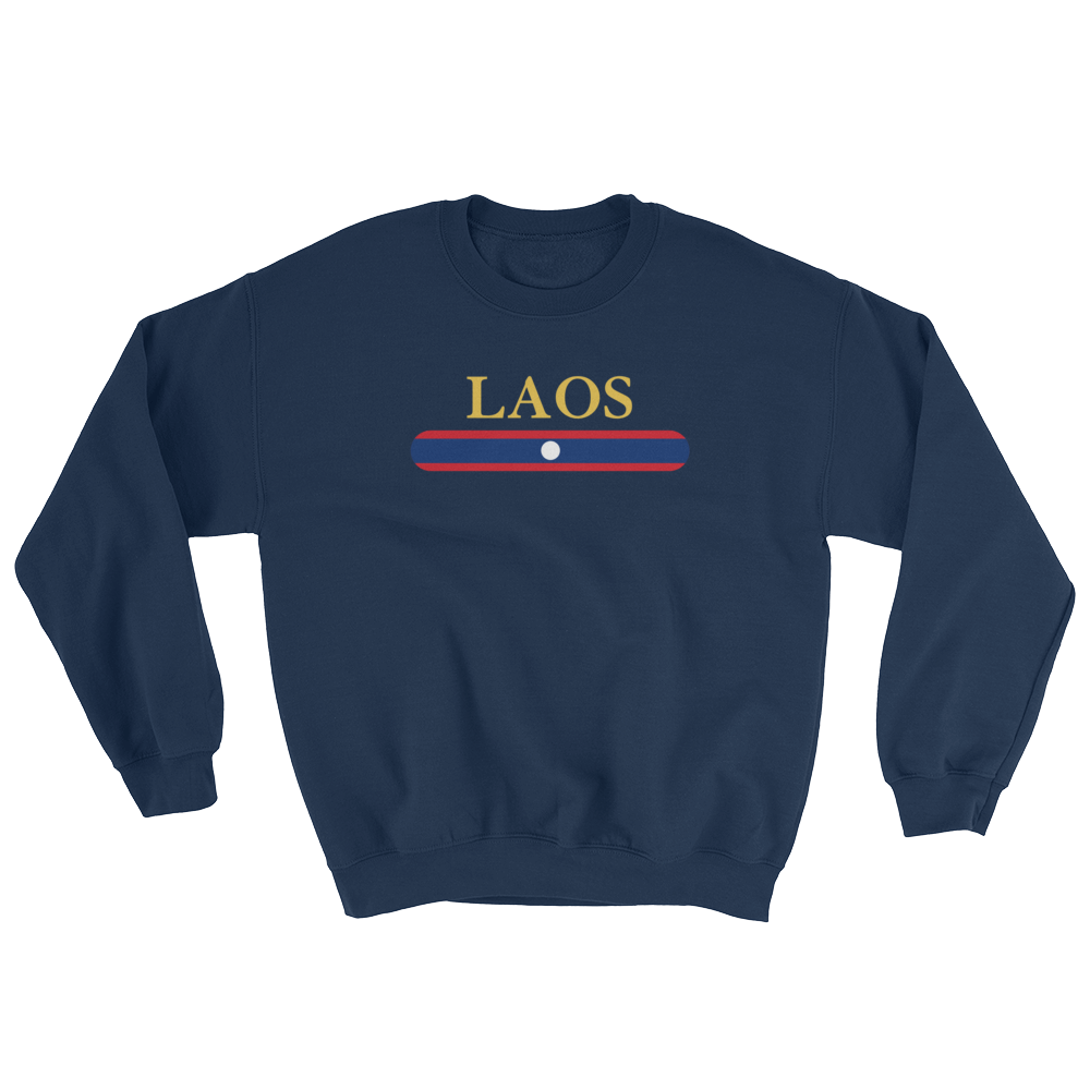 Laos Flag Stripes Sweatshirt