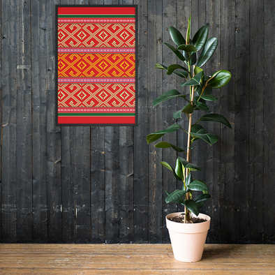 Lao Pillow Pattern Framed poster