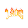 Laos Flames Bubble-free stickers