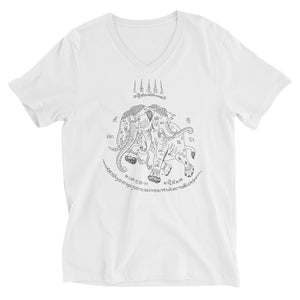Traditional Elephant Tattoo V-Neck T-Shirt (JackBangerz)