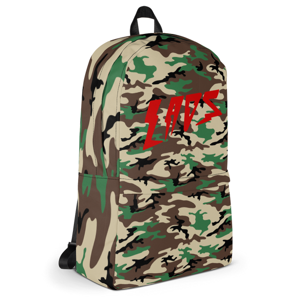 Laos Brown Camo All-Over Backpack