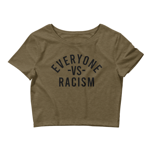 Everyone Vs Racism Women's Crop Tee