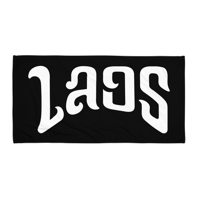 Laos Script Beach Towel