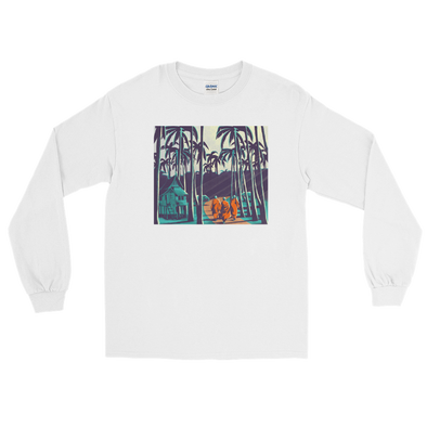 Monk March Palm Trees Men's Long Sleeve Shirt