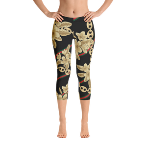 Dok Champa Chain All-Over Capri Leggings