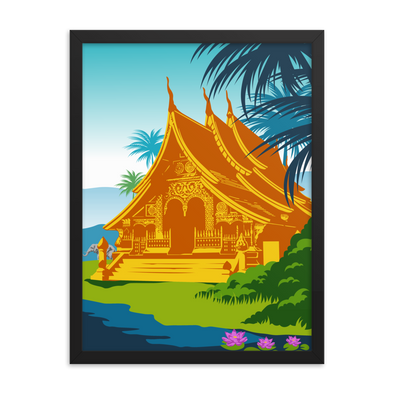 Lao House Framed poster