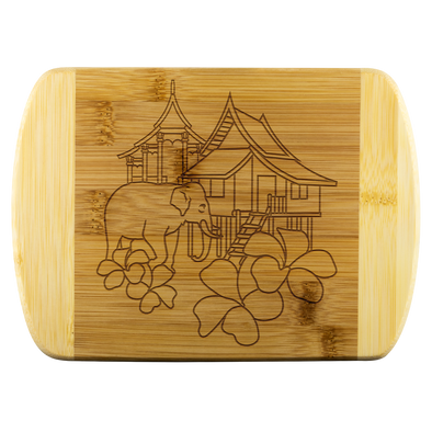 Lao Culture Line Art Cutting Board