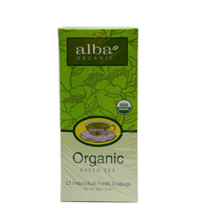 البا شاي اخضر عضوي Alba Organic Green Tea 25 Teabags-الغذاء الحيوي