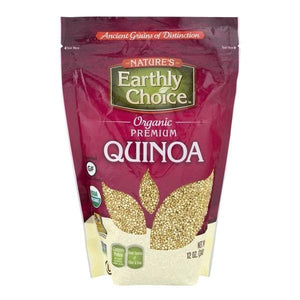 ناتورس ايرثلي جويس كينوا ابيض عضوي Natures Earthly Choice White Quinoa 397 G-الغذاء الحيوي