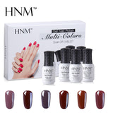 lot vernis semi permanent marron