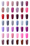 Lot de 6 vernis semi-permanents 8ml ( Gamme )