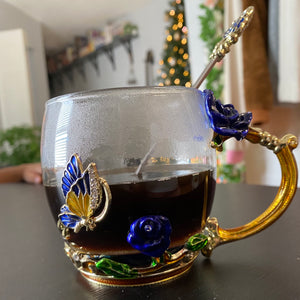 Mariposa Glass Mug