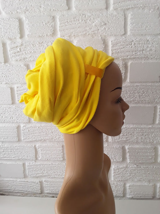 T'Wrap Headwrap -  Yellow   -  Cotton - ThandiWrap