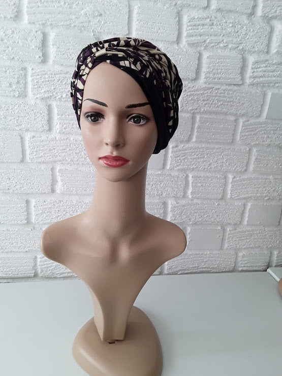 T'Wrap Headwrap -  Wild Leaf-  Mixed fibres - ThandiWrap