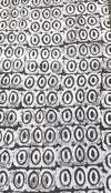 Headcloth - Print Batik - Black and white circles