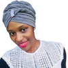 T'Wrap Headwrap - Cotton knit - Grey - ThandiWrap
