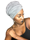 T'Wrap Headwrap - Cotton Grey - ThandiWrap