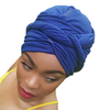 T'Wrap Headwrap  - Cotton knit - Navy - ThandiWrap