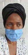 Pleated Face Masks:  2 layers - Filter Pocket & Nose Wire - ThandiWrap