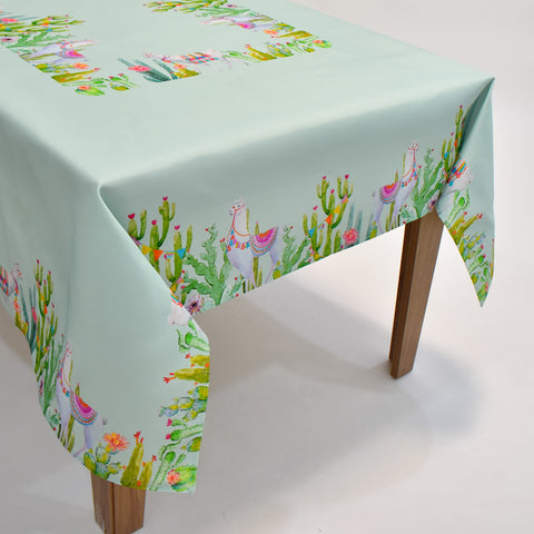 Printed Summer Llama Table Topper | 72x90 inches