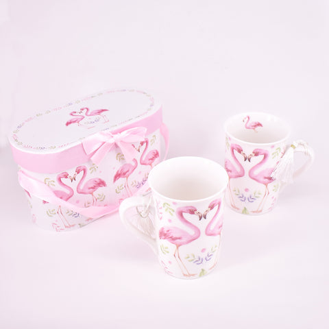 Flamingo Ceramic Mug Set