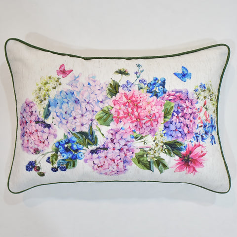 Butterfly Floral Ribbon Printed Cushion Cover | 30 x 45 cm
