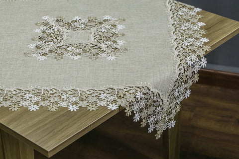 Flora Square Table Topper | 36 inches