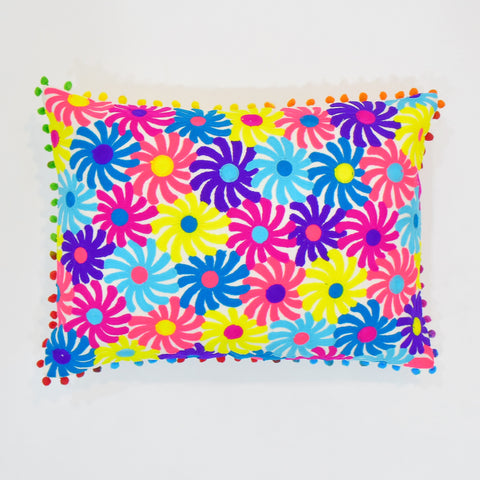 Multicolor Floral Cushion Cover | 35 x 50 cm