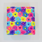 Multicolor Floral Foot Stool | 40 x 40 cm