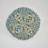 Blue Ethnic Style Round Indian Cushion | 40 x 40 cm