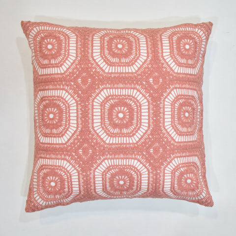 Elegent Pink Embroidered Cushion Cover | 45 x 45 cm
