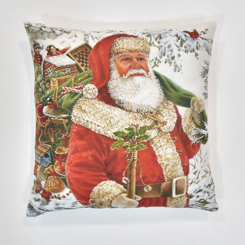 Santa Carrying Gifts Christmas Cushion Cover | 41 x 41 cm