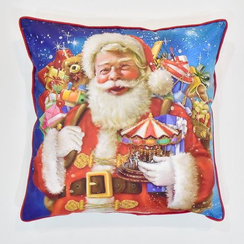 Santa With Gifts Christmas Cushion Cover | 41 x 41 cm