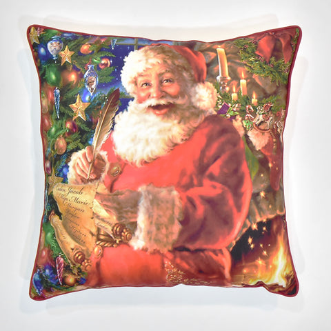 Santa with Letter Christmas Cushion Cover | 41 x 41 cm